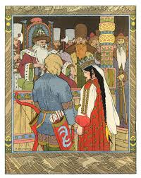 Alexander Afanasyev. The Tale of Tsarevich Ivan, the Firebird, and the Grey  Wolf (Illustrated by Ivan Bilibin)