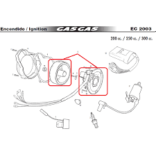 kokusan fp 8009 multispark gas gas ec 125 250 300 00 04 ignition gas gas ref me250034005