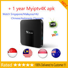 TX3 mini Android tv box with 1 year Myiptv Myiptv4k Watch Malaysia Singapore  Indonesia Channels for Southeast Asia Australia - buy at the price of  $28.99 in aliexpress.com