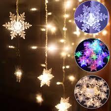 Ngoài Trời Xmas Bông Tuyết LED Dây Đèn Đèn Nhấp Nháy Màn Sáng Chống Nước  Ngày Lễ Đảng Kết Nối Được Sóng Cổ Tích Ánh Sáng D30|Dây Đèn LED
