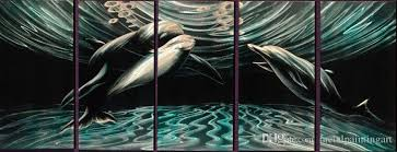 2018 flying dolphin aluminum metal wall art abstract painting large indoor and outdoor modern contemporary decorative artwork from metalpaintingart  on large metal dolphin wall art with 2018 flying dolphin aluminum metal wall art abstract painting large