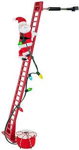Animated Climbing Santa On <b>Ladder</b> Christmas <b>Xmas Decor</b> ...