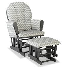 furniture rocker glider combo white with grey baby