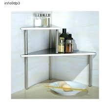 countertop vegetable storage kitchen bathroom romantic shelf stainless steel corner rack counter in from