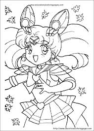 Small Picture Sailor Moon Coloring Educational Fun Kids Coloring Pages and