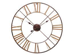 chandler antique brass indoor outdoor skeleton wall clock
