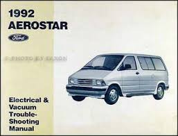 1992 ford aerostar electrical and vacuum troubleshooting manual 1995 ford aerostar wiring diagram at Ford Aerostar Wiring Diagram