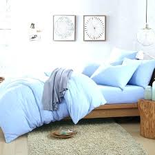 light blue duvet covers queen cotton knit pure color light blue duvet cover comforter setslight covers