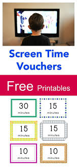 Free Printable Screen Time Vouchers How To Balance Screen