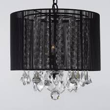 fabric drum shade pendant lighting fresh crystal chandelier chandeliers with black shade h15
