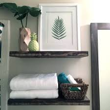 floating shelves bathroom in gray house studio nz