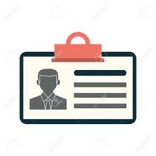Work Identity Card Work Id Card Icon Image Vector Illustration Design Royalty Free