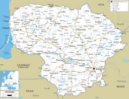 detailed clear large road map of lithuania  ezilon maps