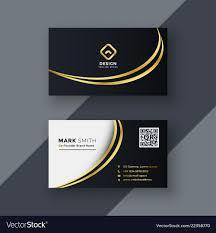 Logo Design Ideas For Business Cards Stylish Golden Creative Business Card Design