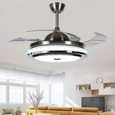ceiling fans 2018 new high quality modern invisible fan lights acrylic leaf led ceiling fans 110v 220v wireless control ceiling fan light
