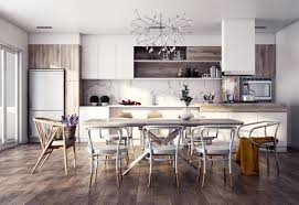 Kitchen Table Setting Colorful Scandinavian Setting Ideas Galvanized Steel Chairs