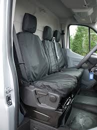 sentinel tailored black driver double passenger seat cover for ford transit mk8 2016 on