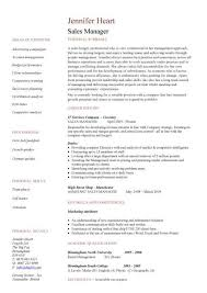 sales manager resume templates by jennifer heart
