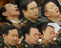 Image result for 会议代表睡觉