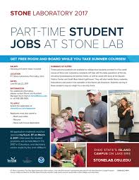 Flyer Jobs 2017 Part Time Student Jobs At Stone Lab Flyer Ohio Sea Grant