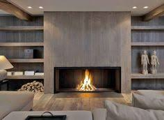 Metalfire fireplace with a modern wood look