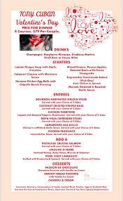 specials menu specials menus