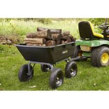 details about lawn tractor yard dump cart garden wagons utility wheelbarrow trailer lawn mower