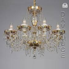 bohemian chech crystal chandelier from davoluce lighting