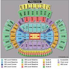 Value City Arena Seating Chart Philips Arena Concert Seating Chart With Rows Philips Arena