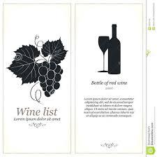 Free Wine List Template Download Wine List Menu Template Stock Vector Illustration Of 31550935 Free
