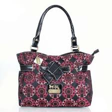 Free Shipping And Best Service On Our Coach Poppy Bowknot Monogram Medium  Red Totes DQI For