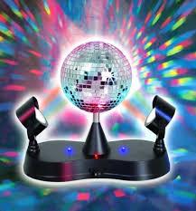 lightahead 174 led peak due rotating mirror disco ball with 2 adjule led light projector lamps com