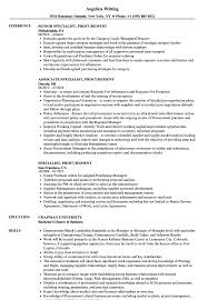 Procurement Resume Specialist Procurement Resume Samples Velvet Jobs 1