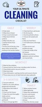 Cleaning Chart Checklist This Is How Often You Really Need To Clean Everything