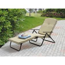 mainstays sand dune outdoor padded folding chaise lounge tan com