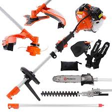 52cc multi function 5 in 1 garden tool brush cutter string trimmer chainsaw