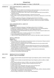 Dental Assistant Resume Samples Velvet Jobs
