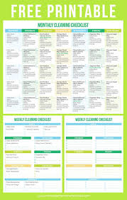 House Cleaning Template Free The Best Free Printable Cleaning Checklists Cleaning