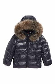 Moncler K2 Water Resistant Hooded Down Jacket with Genuine Fox Fur Trim  (Toddler Boys, Little Boys   Big Boys)