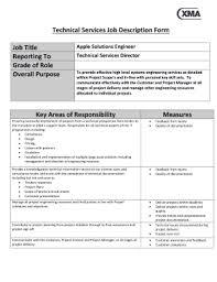 Work Description Form Fillable Online Xma Co Technical Services Job Description