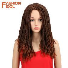 Noble 22 Inch Zachte Synthetische Pruiken Voor Zwarte Vrouwen Gehaakte Vlechten Twist Jumbo Dread Faux Locs Kapsel Lange Afro Bruin Haar