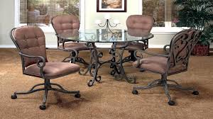 swivel dining chairs with casters. Full Size Of Chair:padded Dining Chairs With Casters On Room Large Swivel R