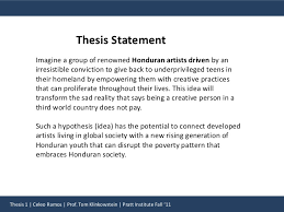 And the reading and the study and examine the picture yourself before coming up with the ерышы but a possible statement of a thesis in response to this question might be simple this: Thesis Statement V3
