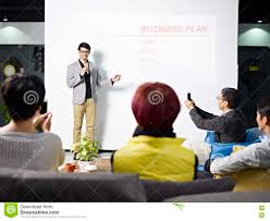 Young Asian Man Presenting Business Plan Stock Image Image Of Asia