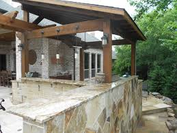 custom stone work outdoor kitchen design