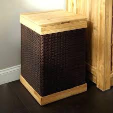 wood laundry hamper wooden clothes plastic bin rattan sectioned basket australia