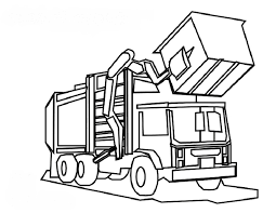 Small Picture Brilliant Recycling Truck Coloring Page Given Luxury Article