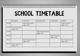 Design Schedule Template School Hobby Timetable Schedule Template Postermywall