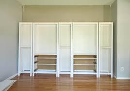 enchanting white ikea hemnes bookcase with cozy wood flooring