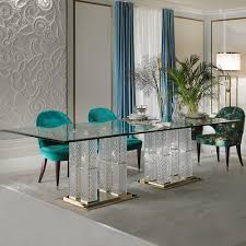 high end dining furniture. Exclusive High End Italian Cut Glass Dining Table And Chairs Set Furniture